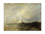 Fishing Boats Bringing a Disabled Ship into Port Ruysdael Giclee Print by Joseph Mallord William Turner