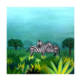 Zebras Giclee Print