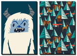 Bavarian Snowmonster and His Forest Friends Kunst