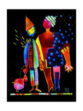 Floating Husband, Dog and Wife Giclee Print by Susse Volander