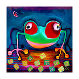 The Frog Jumps Giclee-trykk av Susse Volander