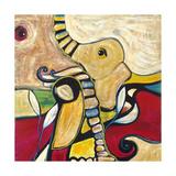 Elephant Gicléetryck av Jami Vestergaard