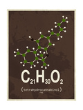 Molecule Thc Giclée-tryk