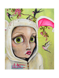 Rabbit Girl Giclee Print by Coco Electra
