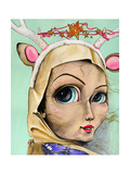 Deer Girl Giclee Print by Coco Electra