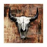 Black Cowskull Giclee Print