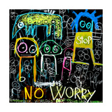 Stop No Worry Giclee Print by Poul Pava