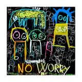 Stop No Worry Lámina giclée por Poul Pava