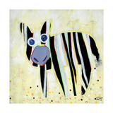 Am I a Zebra or a Dog with Stripes Giclee Print by Susse Volander