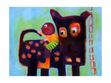 The Dog Sees It's Tail Giclee Print by Susse Volander
