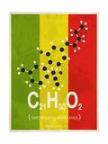 Molecule Thc Lámina giclée