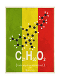 Molecule Thc Giclee Print