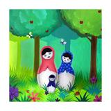Babushka Woods Giclee Print