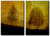 Lonesome Trees on Textured Yellow Print by Susan Bein