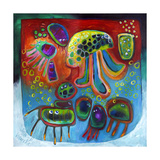 Jellyfish Party Giclee Print by Susse Volander
