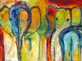 Éléphants Reproduction procédé giclée par Jami Vestergaard