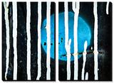 Blauer Mond Poster von Ursula Abresch