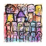 One Big Family Giclee Print by Poul Pava