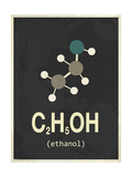 Molecule Ethanol Giclée-tryk
