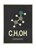 Molecule Ethanol Giclee Print