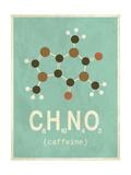 Molecule Caffeine Wydruk giclee