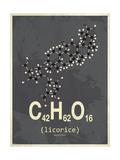 Molecule Licorice Giclée-tryk