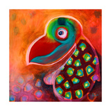 The Wise Parrot Giclee Print by Susse Volander