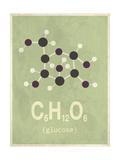 Molecule Glucose Giclée-tryk