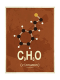 Molecule Cinnamon Giclee Print
