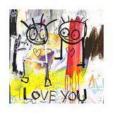 Love You Giclée-tryk af Poul Pava