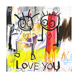 Love You Giclee Print by Poul Pava