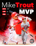 Mike Trout 2014 American League MVP Portrait Plus Photo