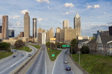 Elevated View over Freedom Parkway and the Downtown Atlanta Skyline Photographic Print by Gavin Hellier
