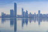 View of City Skyline Reflecting in Persian Gulf, Abu Dhabi, United Arab Emirates, Middle East Photographic Print by Jane Sweeney