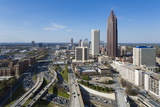 Elevated View over Interstate 85 Passing the Midtown Atlanta Skyline Photographic Print by Gavin Hellier