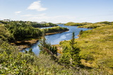Beautiful Pond Near Port Aux Basques, Newfoundland, Canada, North America Photographic Print by Michael Runkel