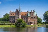 Pond in Front of Castle Egeskov, Denmark, Scandinavia, Europe Photographic Print by Michael Runkel