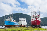 Fishing Boat in Corner Brook, Newfoundland, Canada, North America Stampa fotografica di Michael Runkel