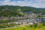 View over Cochem with its Castle, Moselle Valley, Rhineland-Palatinate, Germany, Europe Photographic Print by Michael Runkel