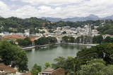 View of the Lake and Town of Kandy, Sri Lanka, Asia Photographic Print by John Woodworth