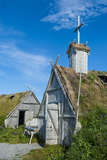 Norstead Viking Village and Port of Trade - Reconstruction of a Viking Age Settlement Photographic Print by Michael Runkel