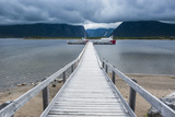 Jetty to the Western Brook Pond in the Gros Morne National Parknewfoundland, Canada, North America Photographic Print by Michael Runkel