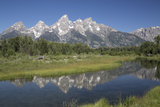 Water Reflections of the Teton Range Photographic Print by Richard Maschmeyer