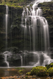 Scaleber Force (Foss Waterfall) Near Settle, North Yorkshire, Yorkshire, England Photographic Print by John Woodworth