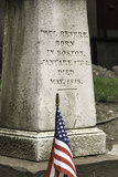 Memorial at Paul Revere's Grave in the Old Granary Burying Ground in Boston Photographic Print by John Woodworth