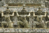 Section of the Wat Arun (Temple of the Dawn), Bangkok, Thailand, Southeast Asia, Asia Photographic Print by John Woodworth