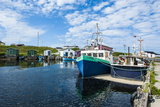 Fishing Boats in the Harbour of Port Au Choix, Newfoundland, Canada, North America Stampa fotografica di Michael Runkel