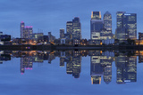 View over River Thames to Canary Wharf, Docklands, London, England, United Kingdom, Europe Photographic Print by Markus Lange