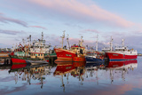 Sunset Reflected on the Commercial Fishing Fleet at Killybegs Stampa fotografica di Michael Nolan