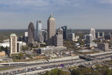 Elevated View over Interstate 85 Passing the Atlanta Skyline Photographic Print by Gavin Hellier